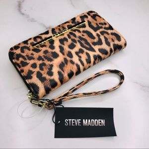 Steve Madden | Leopard Print Zip Around Wallet